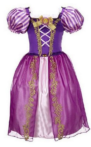 F68104 purple fairy tale long hair princess dress children cosplay costume