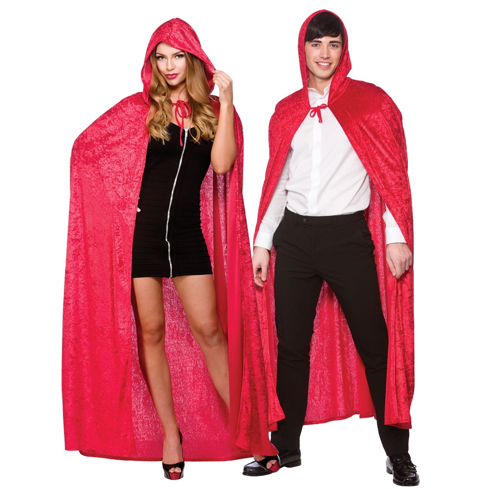 B048-3 Halloween costume party performance clothing dense velvet cloak witch