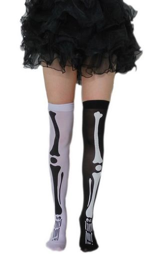 F8186 arty pskeleton socks costumes accessories adult socks