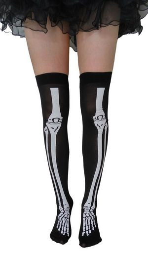 F8187 party skeleton socks costumes accessories adult stockings