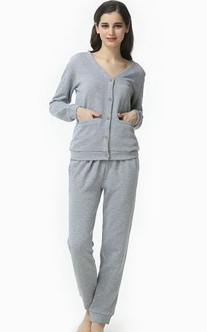 SL80003-2   long sleeved cotton pajamas europe women s underwear set