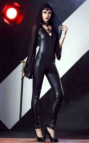 F1740 Sexy Leather Costumes for Halloween Carvinal