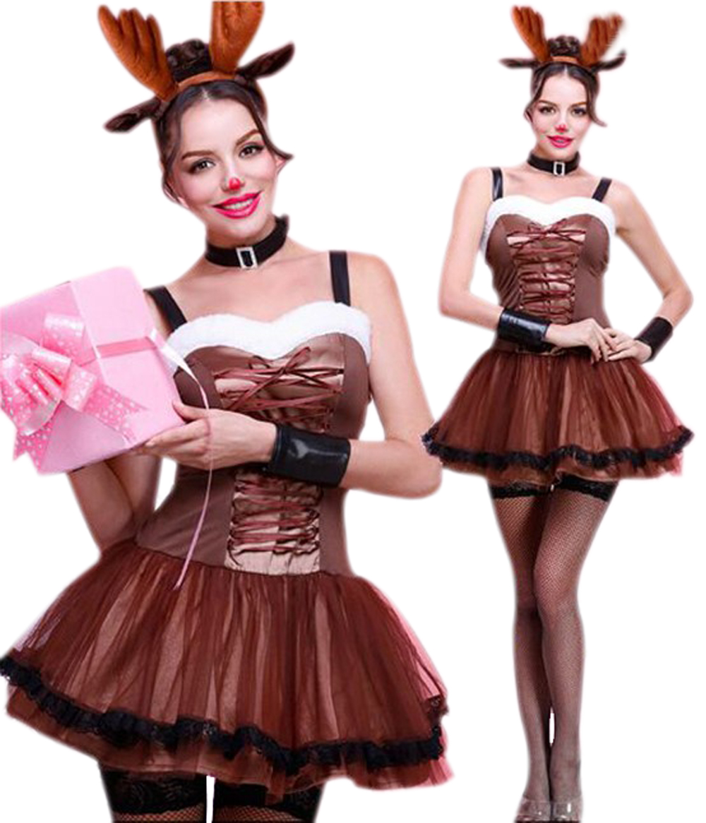 FC142 Reindeer cosplay costume Christmas carnival costumes for women