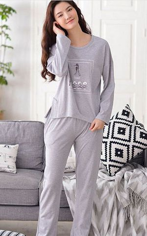SL80021-2  autumn women s sports double - sided cotton two suit