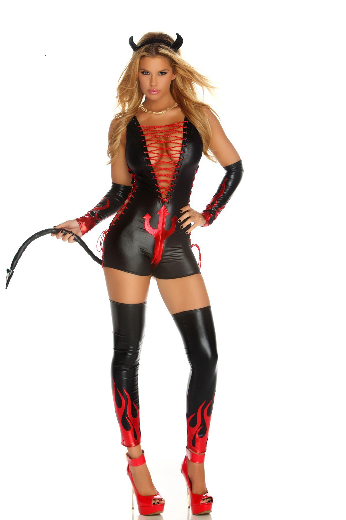 F9080 Dark Fantasy Women Devil Halloween Costume