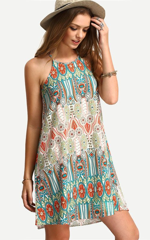 F2519 Summer Beach Maxi Floral Dresses for Women