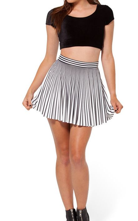 F33096 Wholesale Black Milk Skirt Henchmen Cheerleader Skater Skirt