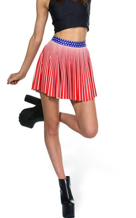 F33099 Star Spangled Cheerleader Skirt