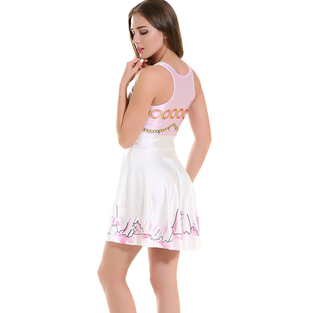 F33103 Summer sexy girl skater one piece print skater dress