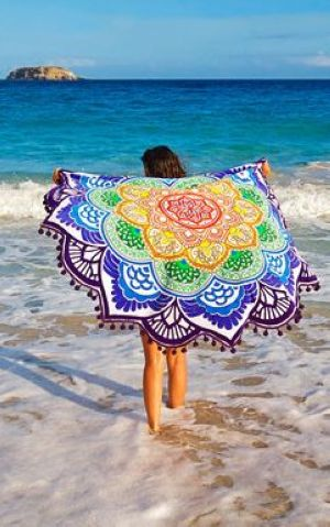 F4553 Surf Gypsy Tassel Poncho Swim Cover Up