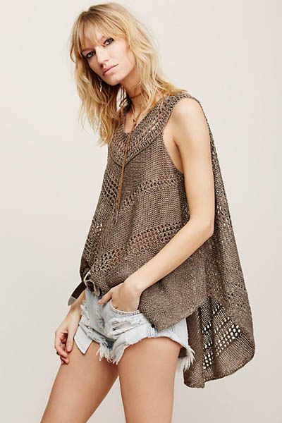 F4588 Fashion Beach Poncho
