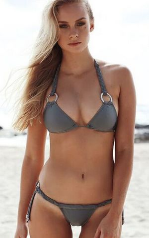 F4609 Stylish Weave Metal Circle Bikini Sets Swimsuit