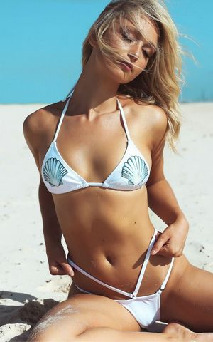 F4616 Fashion Halter Neck  Top Bikini Set Swimwear