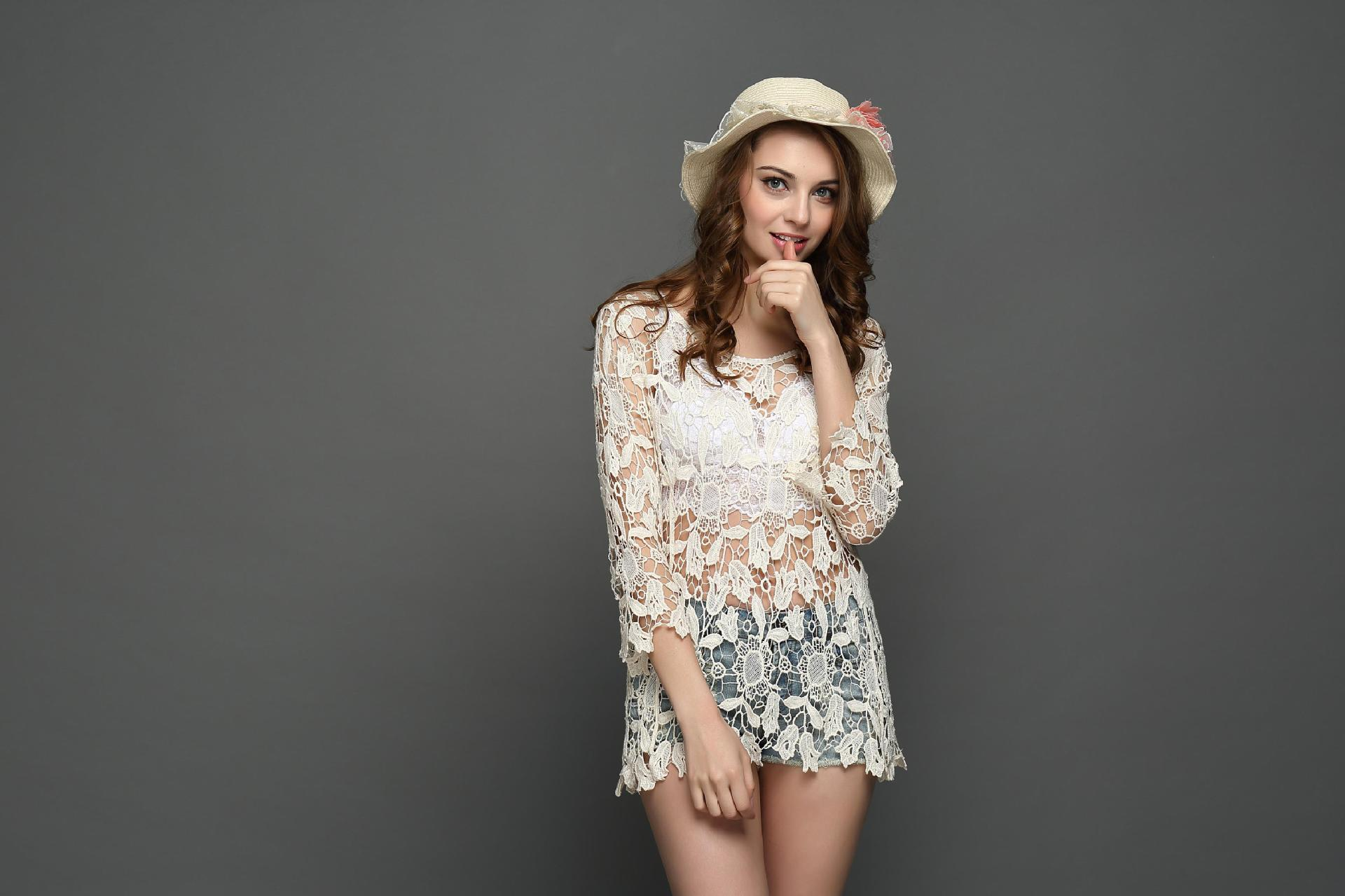 F4638 loose blouses Tuni Boho white 2017 Summer Lace Frint Top for Women
