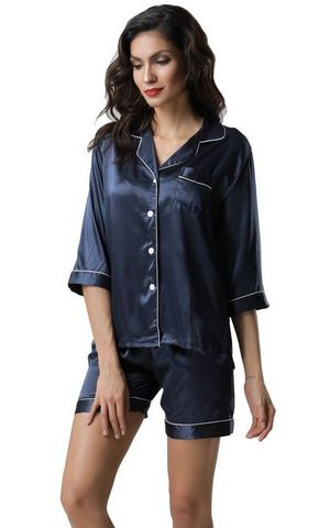 F5272-1 With padding sexy v neck women summer leisure wear pajamas