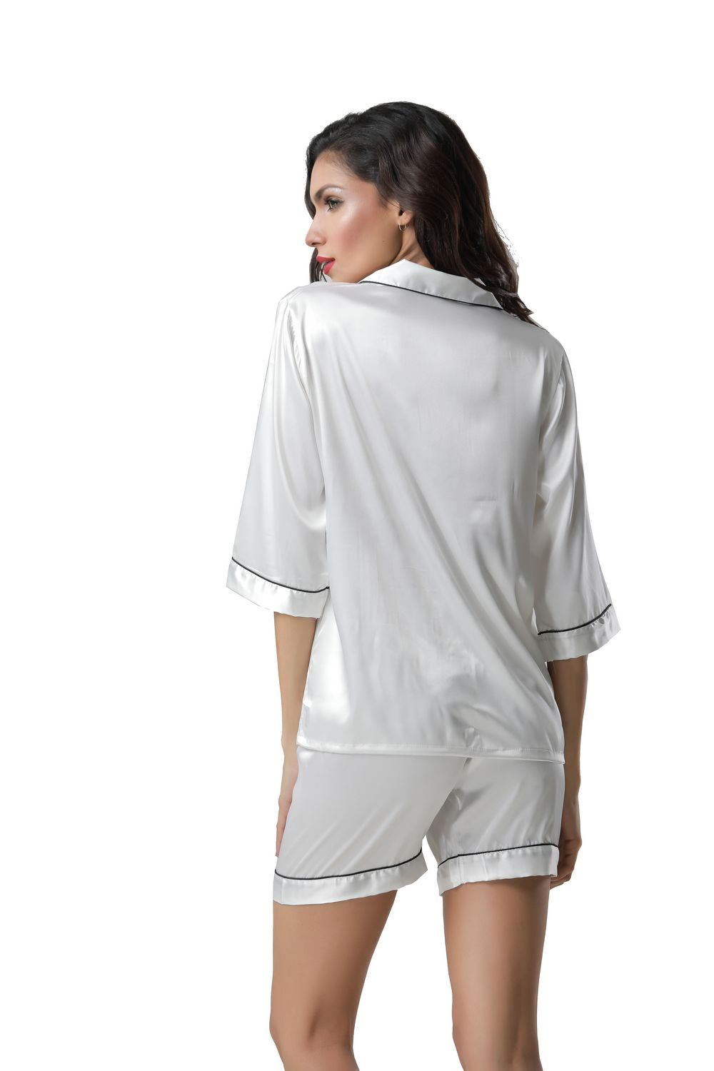F5272-2 With padding sexy v neck women summer leisure wear pajamas