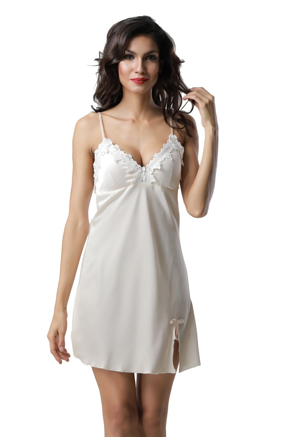 F5273-1 With padding sexy v neck women summer leisure wear pajamas