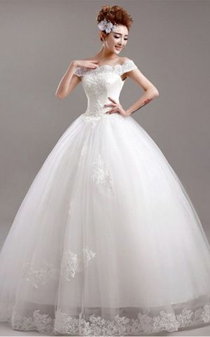 WD3020 off the shoulder bridal dress