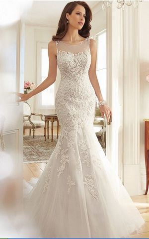 WD3037 lace Mermaid wedding  dress