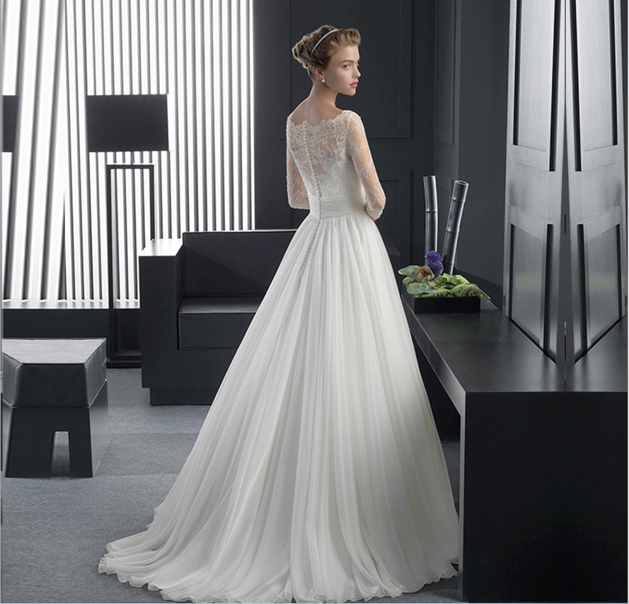 WD3040 Long Tail Wedding Dresses