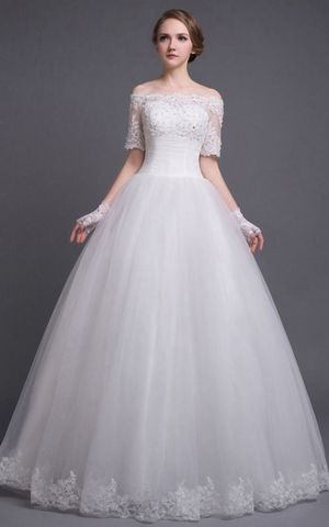 WDDH1560  off the shoulder  wedding dress
