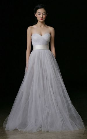 WDDH1571 strapless Slim Wedding dress