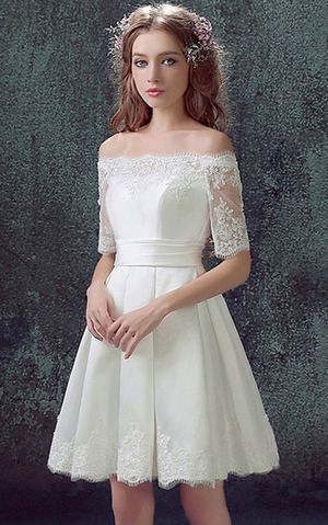 WDDH1627 Short Bride Wedding Dresses