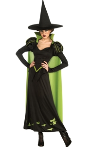 F1770 Women Halloween Costume  Adult Wicked Witch Dress