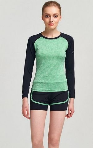 YG1110 Women s Long Sleeve Slim fit Breathable Running Tee Yoga Shirt