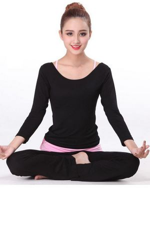 YG1111 Women s Long Sleeve Sport Yoga Suit Set Homewear