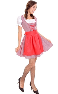 F1789  3 Pcs Dirndl Serving Wench Bavarian Beer Girl Oktoberfest Adult Costume