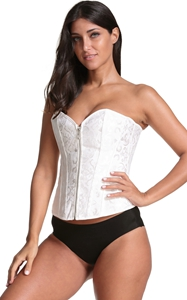 F3239-1 Fashion Womens Brocade Underbust Boned Corset Waist Trainer Shaper
