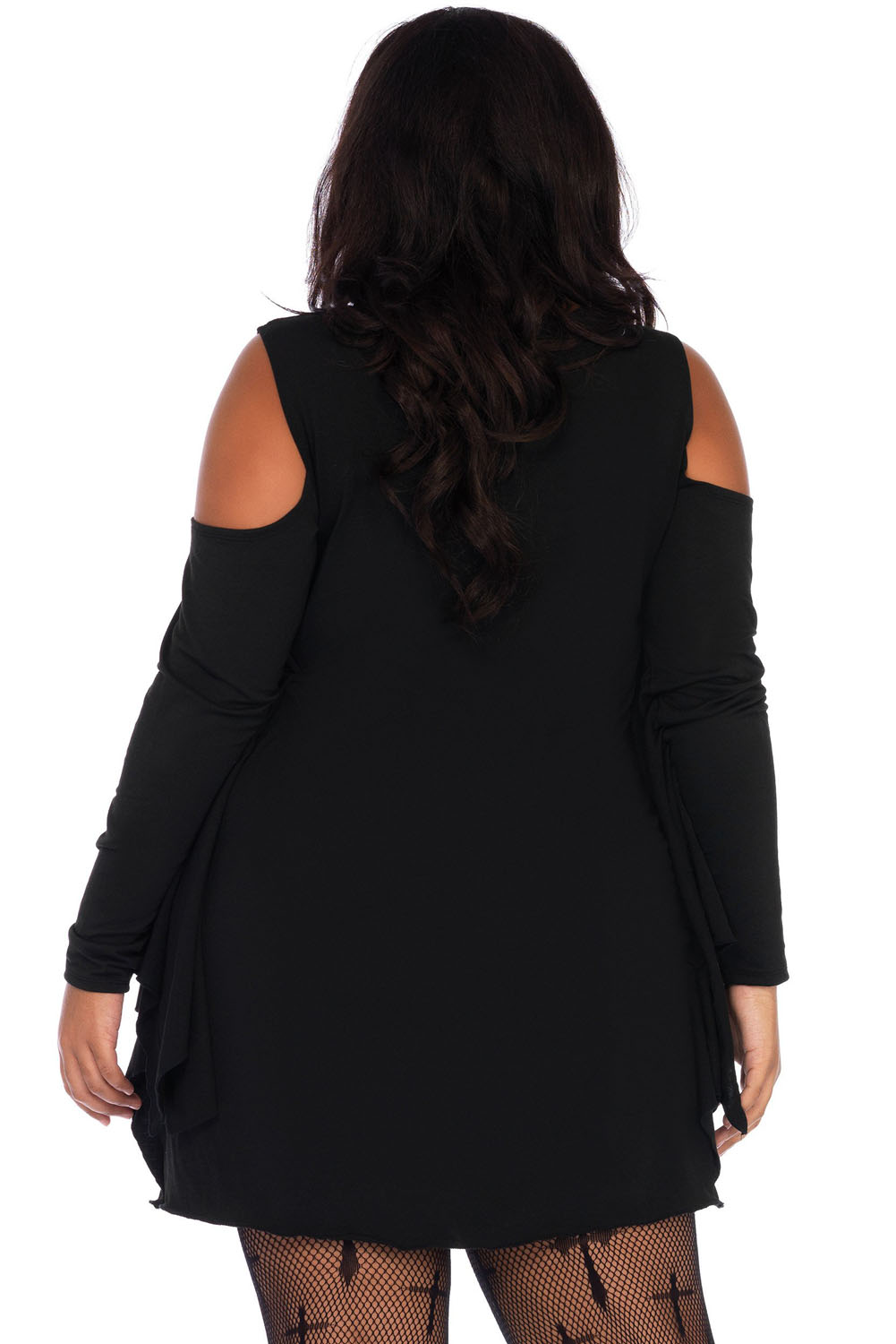 BY89052-2 Spiderweb Plus Size Jersey Tunic Dress