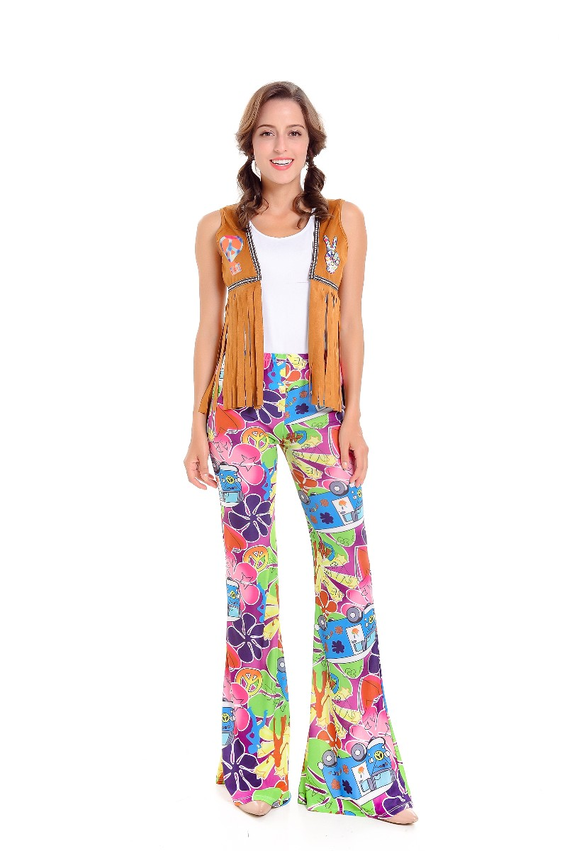 F1806 1960s Hippie costume for women