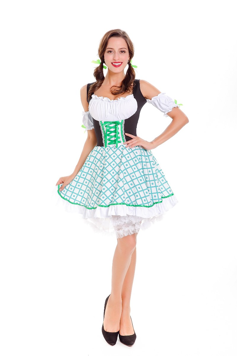 F1810 German Oktoberfest Beer Maid Costume Bavarian Traditional Costume