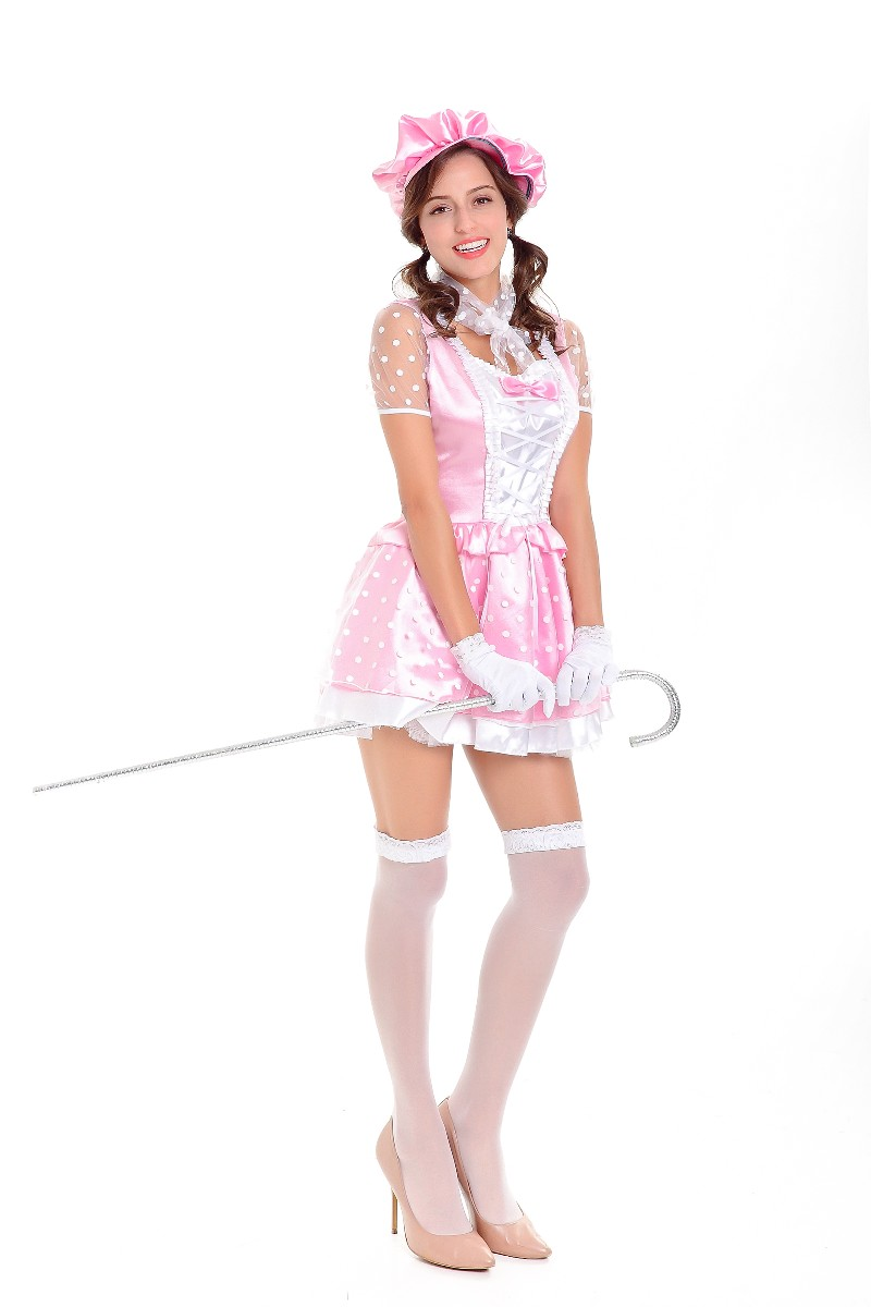F1812 Halloween Fancy Pink Adult Princess Party Costume