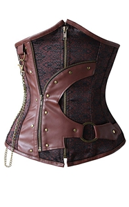 F9082  Charmian Gothic Steampunk Corset for Women Steel Boned Underbust Corset