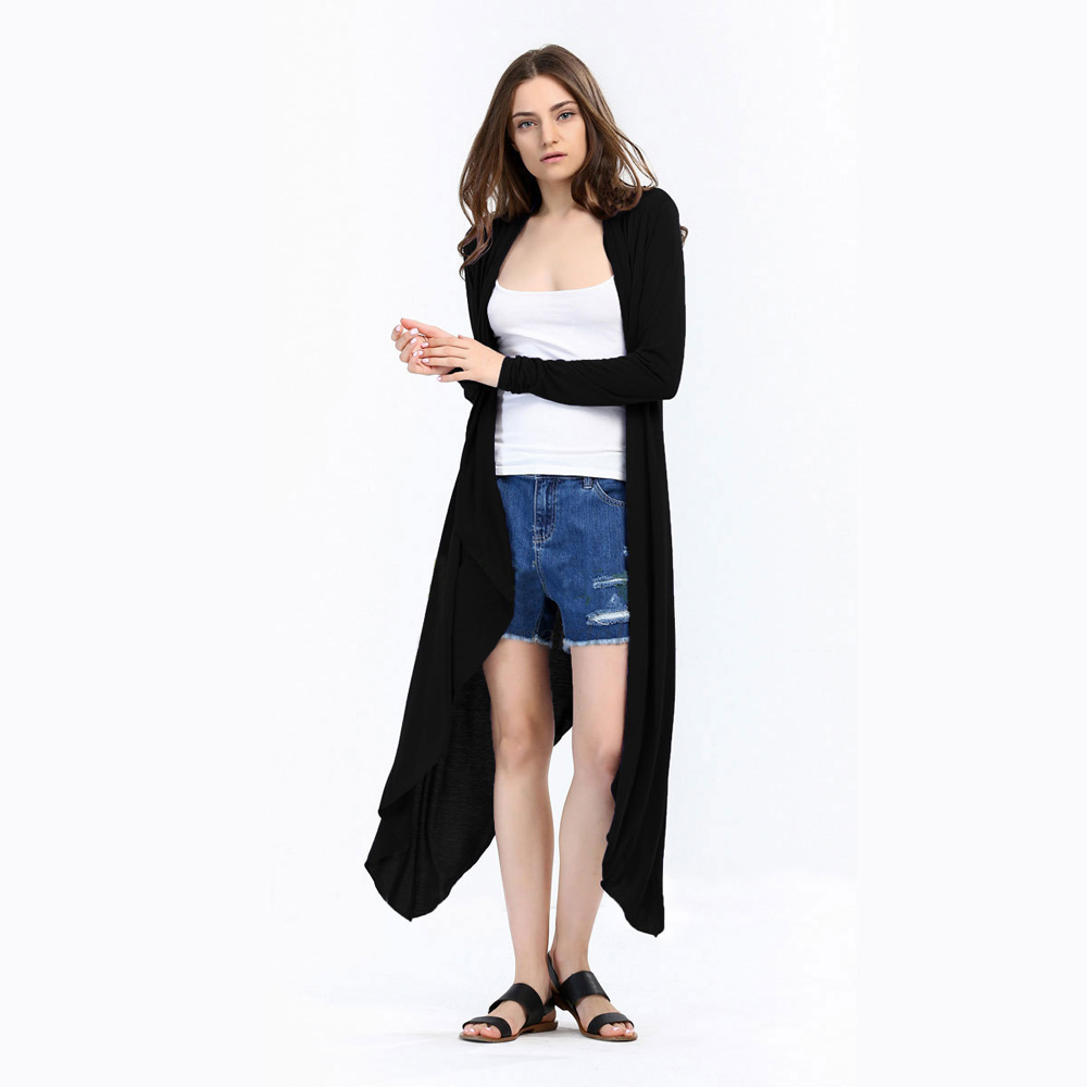 SZ60003-1-2 Fashion Ladies Long Cardigans Knit Sweaters For Women