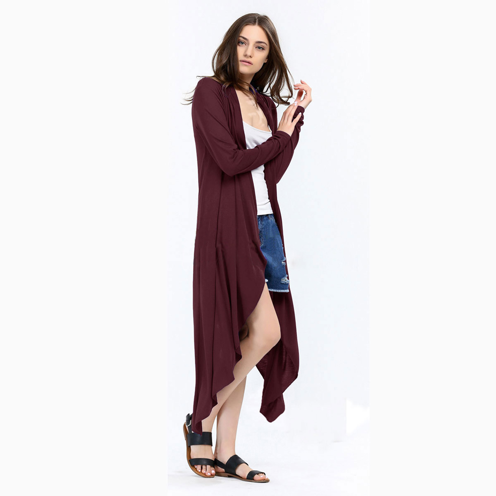SZ60003-1-3 Fashion Ladies Long Cardigans Knit Sweaters For Women