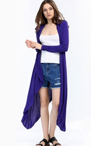 SZ60003-1 Fashion Ladies Long Cardigans Knit Sweaters For Women