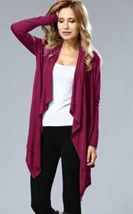 SZ60004-2 Asymmetric Neck Casual Cardigans