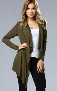 SZ60004-3 Asymmetric Neck Casual Cardigans