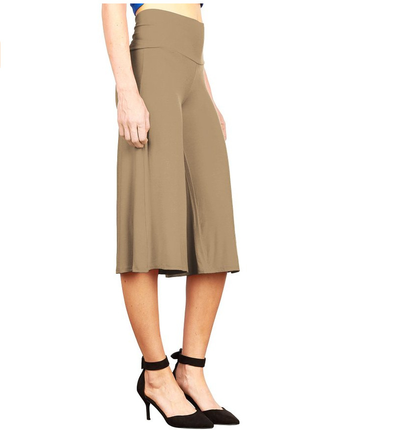 SZ60023-2 Womens Fashionable Wide Leg Pants Casual Ladies Loose Trousers