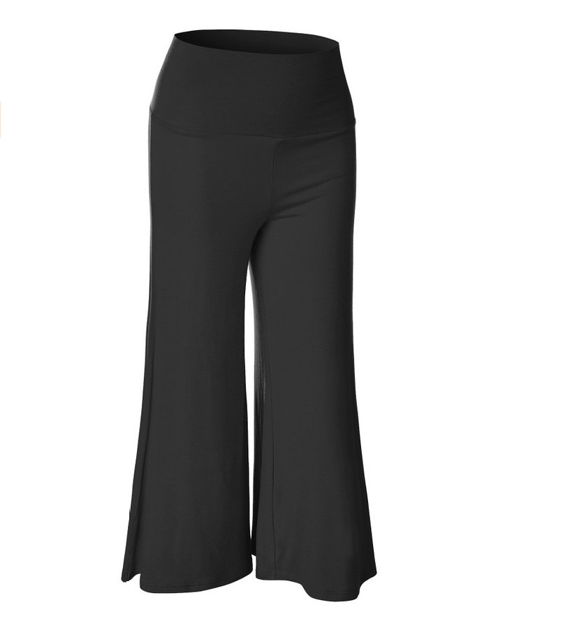 SZ60023-3 Womens Fashionable Wide Leg Pants Casual Ladies Loose Trousers