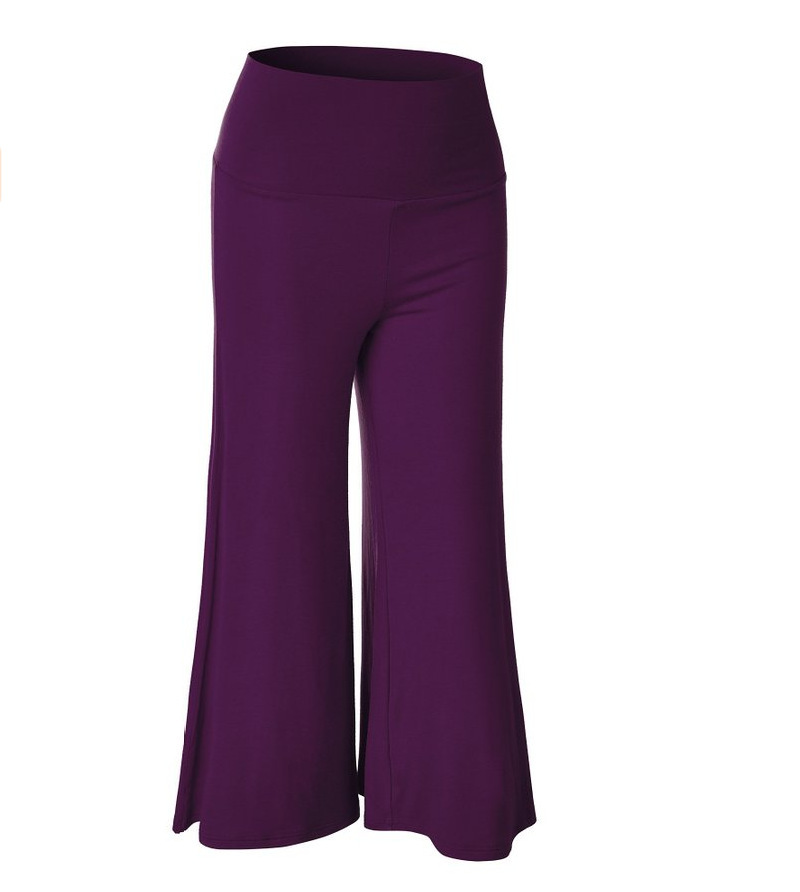 SZ60023-4 Womens Fashionable Wide Leg Pants Casual Ladies Loose Trousers