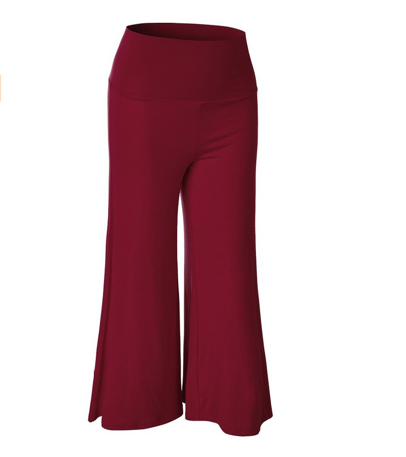 SZ60023-5 Womens Fashionable Wide Leg Pants Casual Ladies Loose Trousers