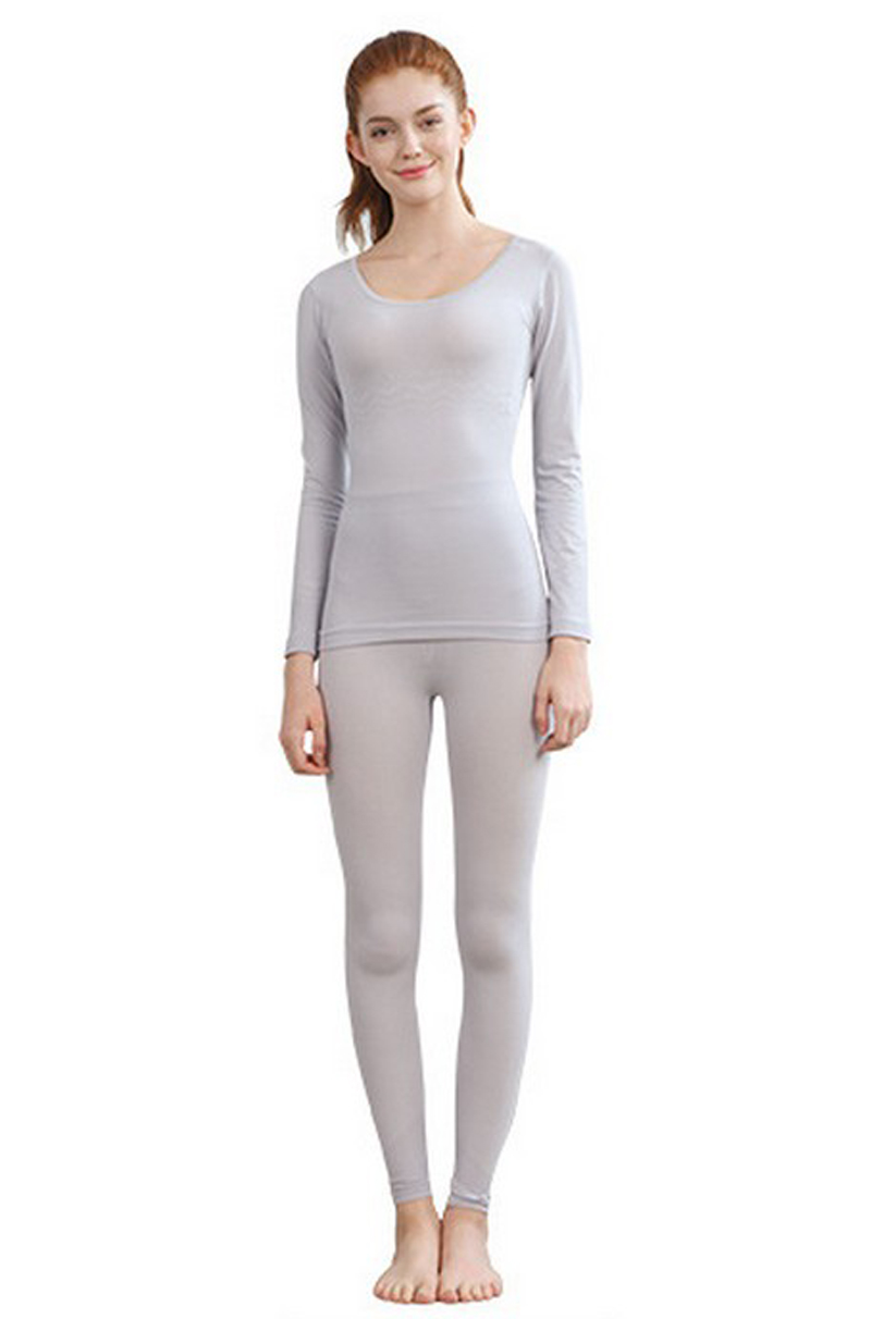 SZ60046-5 Womens Thermal Underwear Set Top & Bottom Fleece Lined