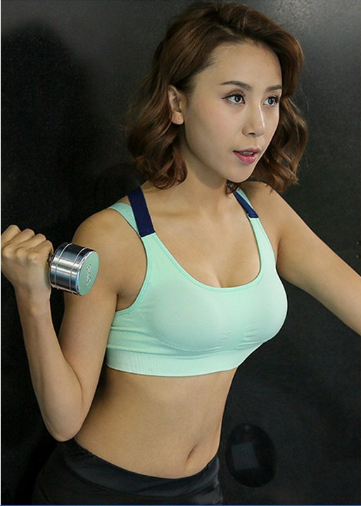 SZ60052-2 Fitness Yoga Push Up Sports Bra For Womens Gym Running Padded Tank Top