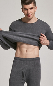 SZ60057-2 2 Pcs Mens Long Sleeve Casual Cotton Men Hot Underwear 3 Colors