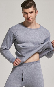 SZ60057-3 2 Pcs Mens Long Sleeve Casual Cotton Men Hot Underwear 3 Colors